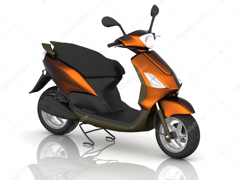 Scooter on white background — Stock Photo #10861667