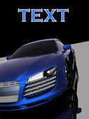 Dark blue car model — Stock Photo