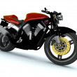 Red Motor cycle — Stock Photo