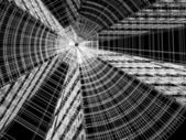 Abstrakt architektur 3d konstruktion — Stockfoto