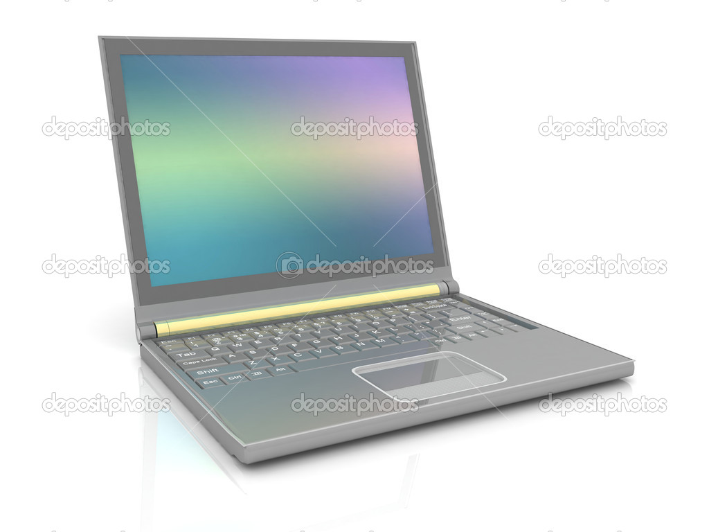 Laptop on white background — Stock Photo #11094110