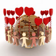 Conception of love and friendship in the whole world — Stock Photo