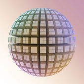 Globe of cubes — Stock Photo