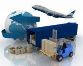 Types of transport of transporting are loads. — Stock Photo
