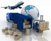 São de tipos de transporte de transporte de cargas. — Foto Stock
