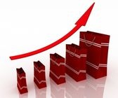 Sales growth chart — Stock Photo