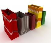 Collection for shopping from colorfull packages — Stock Photo