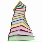 Stacks of books isolated on white background — Stock Photo