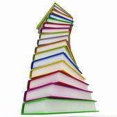 Pilas de libros aislados sobre fondo blanco — Foto de Stock
