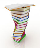 Stacks of books isolated on white background — Стоковое фото