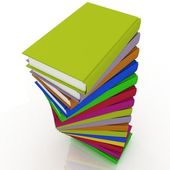 Stacks of books isolated — Stock Photo