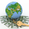 Global and cash money, the world of finance — Stock Photo