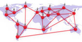 Network map of the world — Stock Photo
