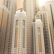 Skyscrapers.3d render. — Stock Photo