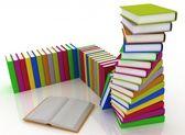 Stacks of books isolated on white background — Stock Photo