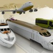 Concept of transport for trips — Stock Photo