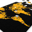 Human network on world map — Stock Photo