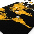 Stock Photo: Human network on world map