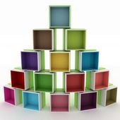 3d illustration empty colorful stand — Stock fotografie