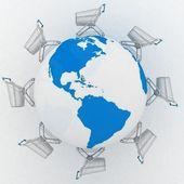 Shopping carts around the world. — Stock Photo