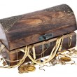 Treasure box with old jewelry - Foto Stock