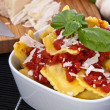 Portion of Raviolis in a bowl — Stock Photo