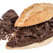 Royalty-Free Stock Photo: Chocolate Creme on a bun