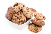 Mixed Cookies in a bowl on white — Stock Photo