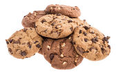 Heap of mixed Cookies on white — Stock Photo