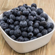 Bowl filled with Blueberries — Stock Photo