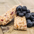 Muesli Bars with fresh Blueberries — Stock Photo