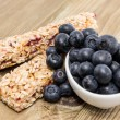 Muesli Bars with Blueberries in a bowl — Stock Photo #11967682