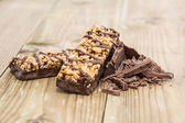 Two Granola Bars with Chocolate — Stock Photo