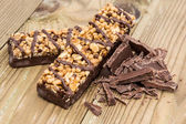 Two Granola Bars with Chocolate — Stock Photo