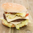double cheeseburger — Stock Photo