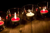Candles in glasses — Foto de Stock