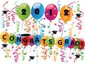 Celebrating graduation day vector — Stock Vector