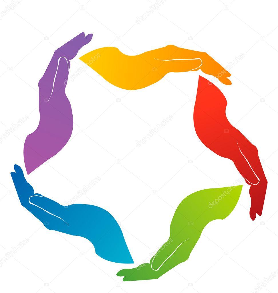 Depositphotos Hands Union Teamwork Logo Stock Vector Handshake