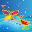 Royalty-Free Stock Vector Image: Fish and sea background vector