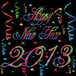 2013 Happy new year - Stock Vector