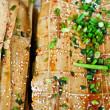 Fried piled bean curd skin, China's sichuan snack — Stock Photo