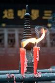Kinesiska tempel, statyer, — Stockfoto