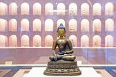 Chinese ancient Tibetan Buddhism, Tibetan bronze Buddha — Stock Photo