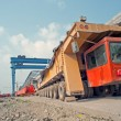 Stock Photo: Elevated bridge construction vehicles,