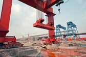 Cina, la costruzione della ferrovia ad alta velocità — Foto Stock