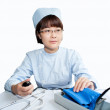 The doctor in the operating device - Stock Photo