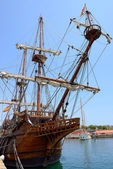 Old frigate — Stock Photo