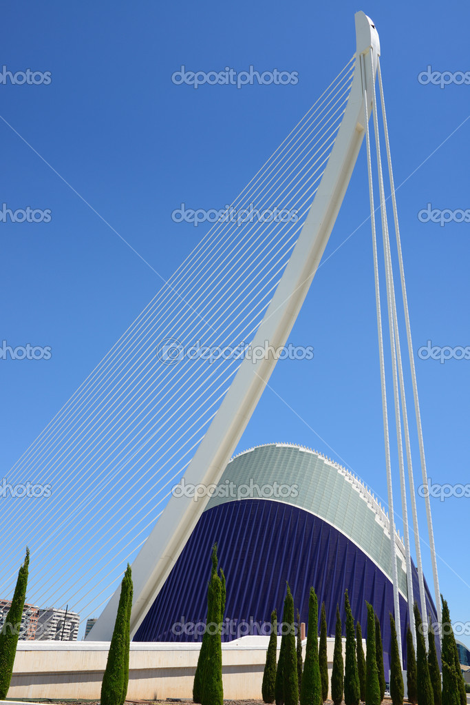 White harp in the sky in valencia — Stock Photo #12160466