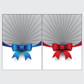 Red and blue vector ribbons illustration set — Stock Vector