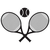 Vector tennis icon illustration — Stock Vector
